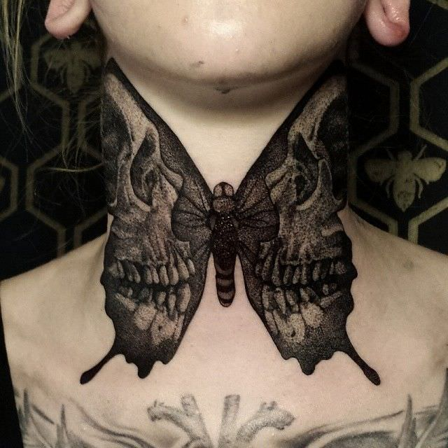 Skull Butterfly Wings