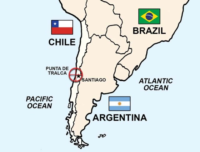 Mid Air South America Map