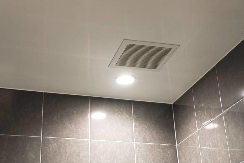 can bathroom exhaust fans discharge