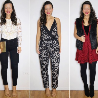 10 Holiday looks I created with things I had in my closet