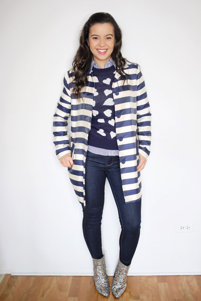 My version of monochromatic outfits with an head to toe navy look