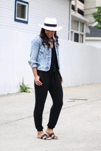 How to wear a black jumpsuit for summer