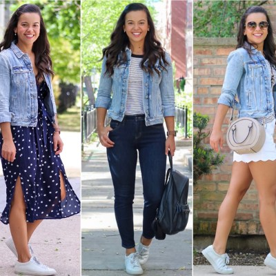 10 updated Summer looks with a denim jacket