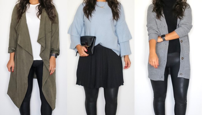 3 Thanksgiving looks with leggings