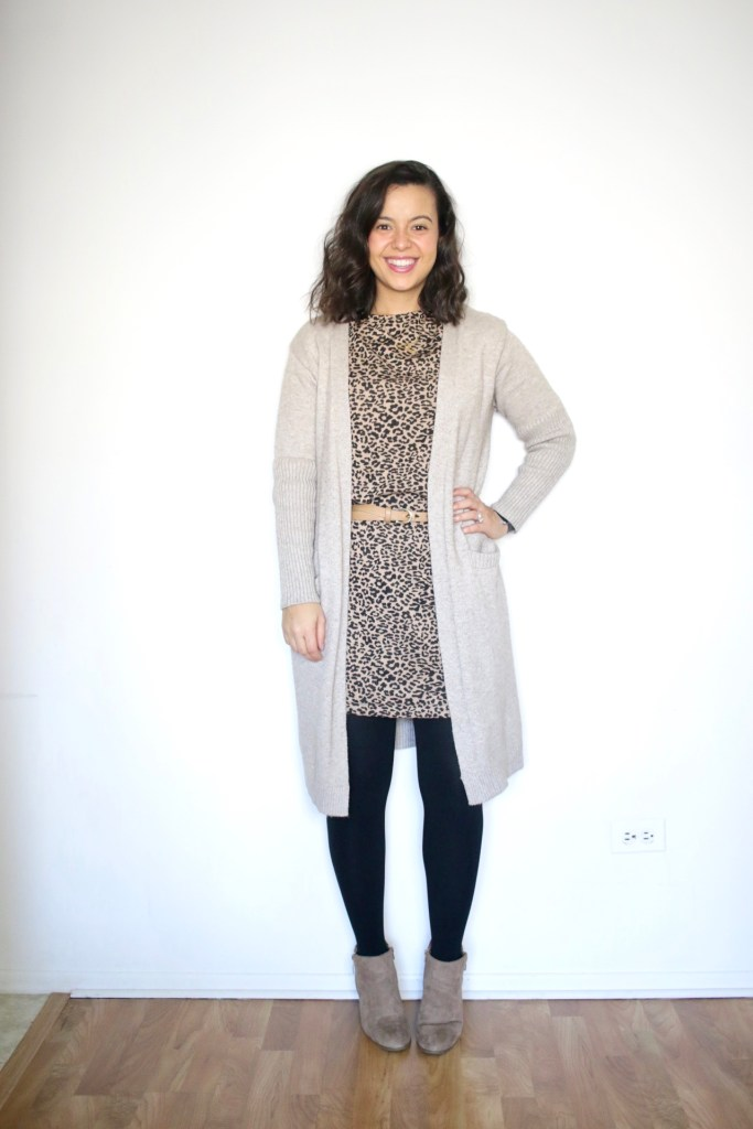 How to wear a long cardigan with a dress