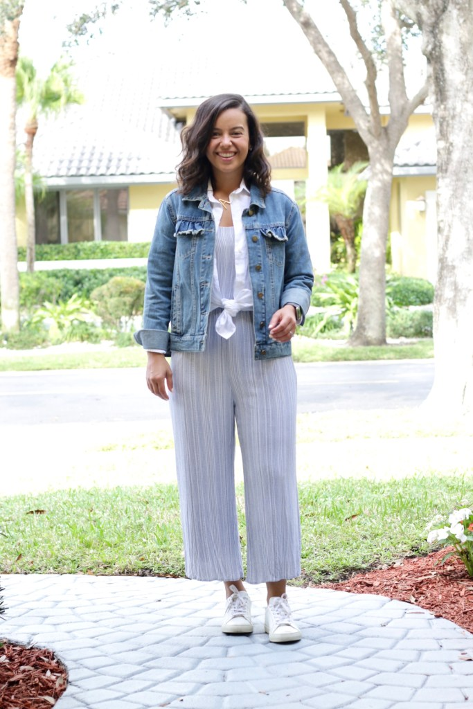 How to wear a jumpsuit with layers