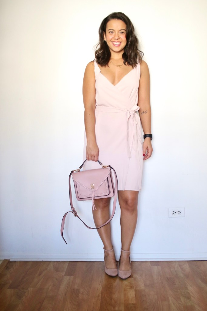 My version of monochromatic outfits with an head to toe blush look