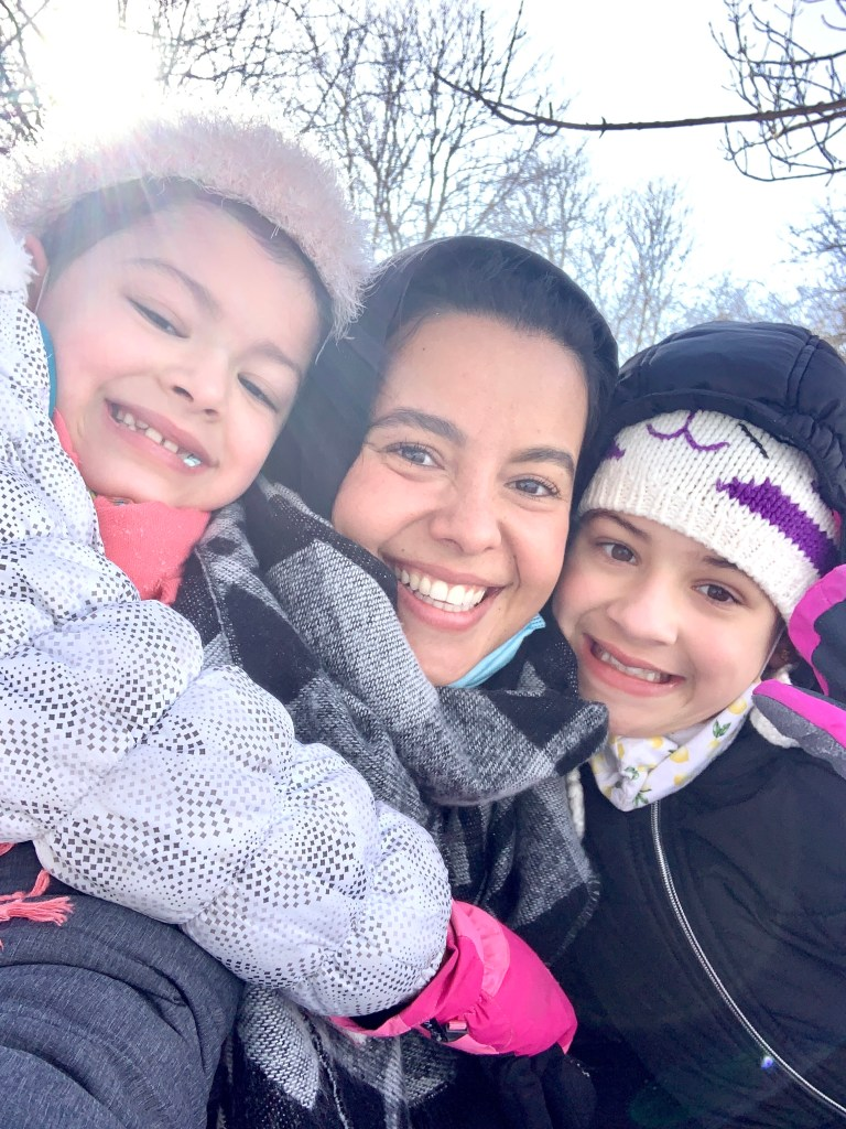 Going sledding in Chicago with my girls