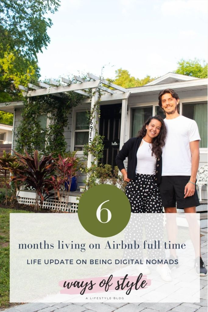 Living in Airbnb's full time Pinterest Pin