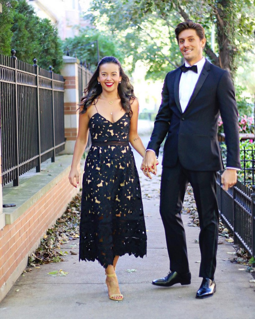 How to style a black dress for a wedding