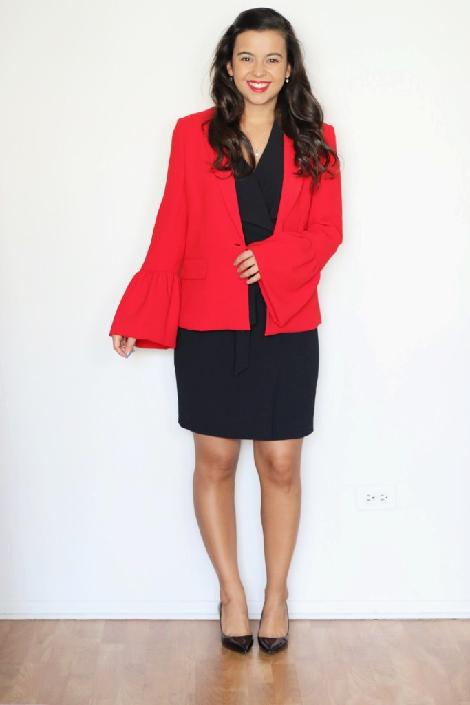 How to style a black dress for the office