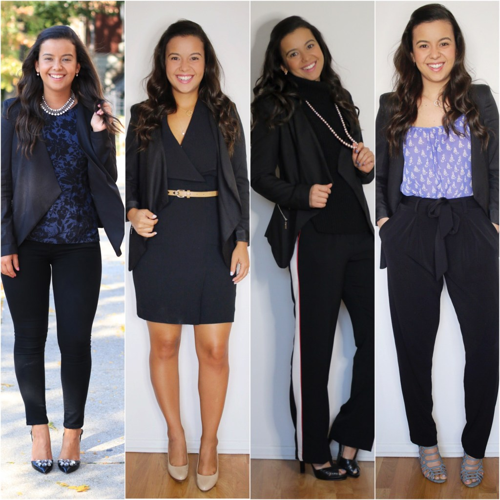 office looks with a black blazer