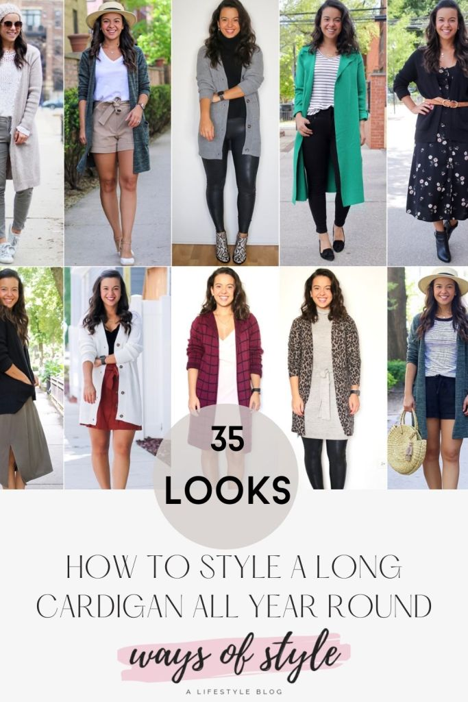 How to wear a long cardigan Pinterest Pin