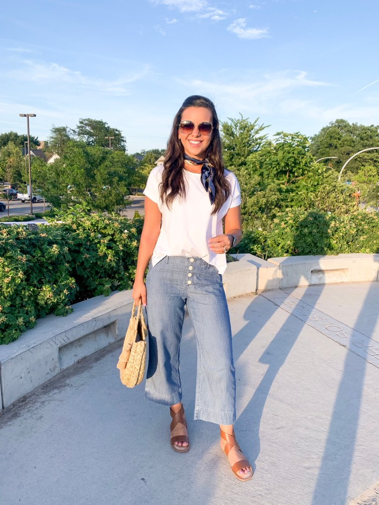 How to wear a white tshirt for Summer look 4