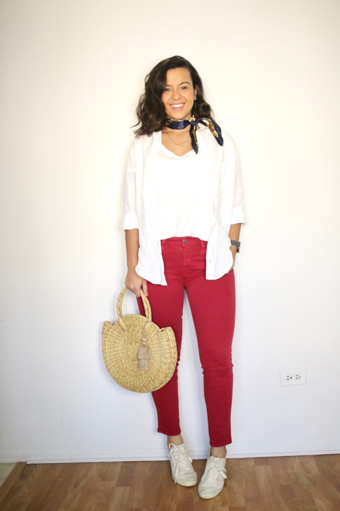 How to wear a white tshirt for Summer look 2