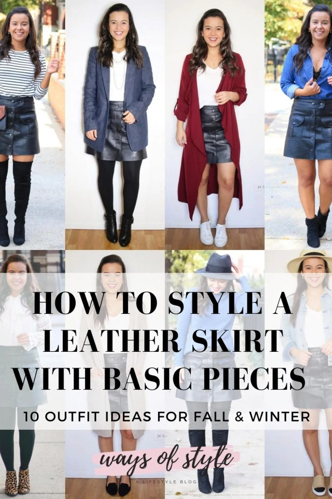 10 Leather skirt outfit ideas for 2021 Pinterest Pin