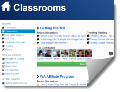 Image showing discussions in the Wealthy Affiliate classroom