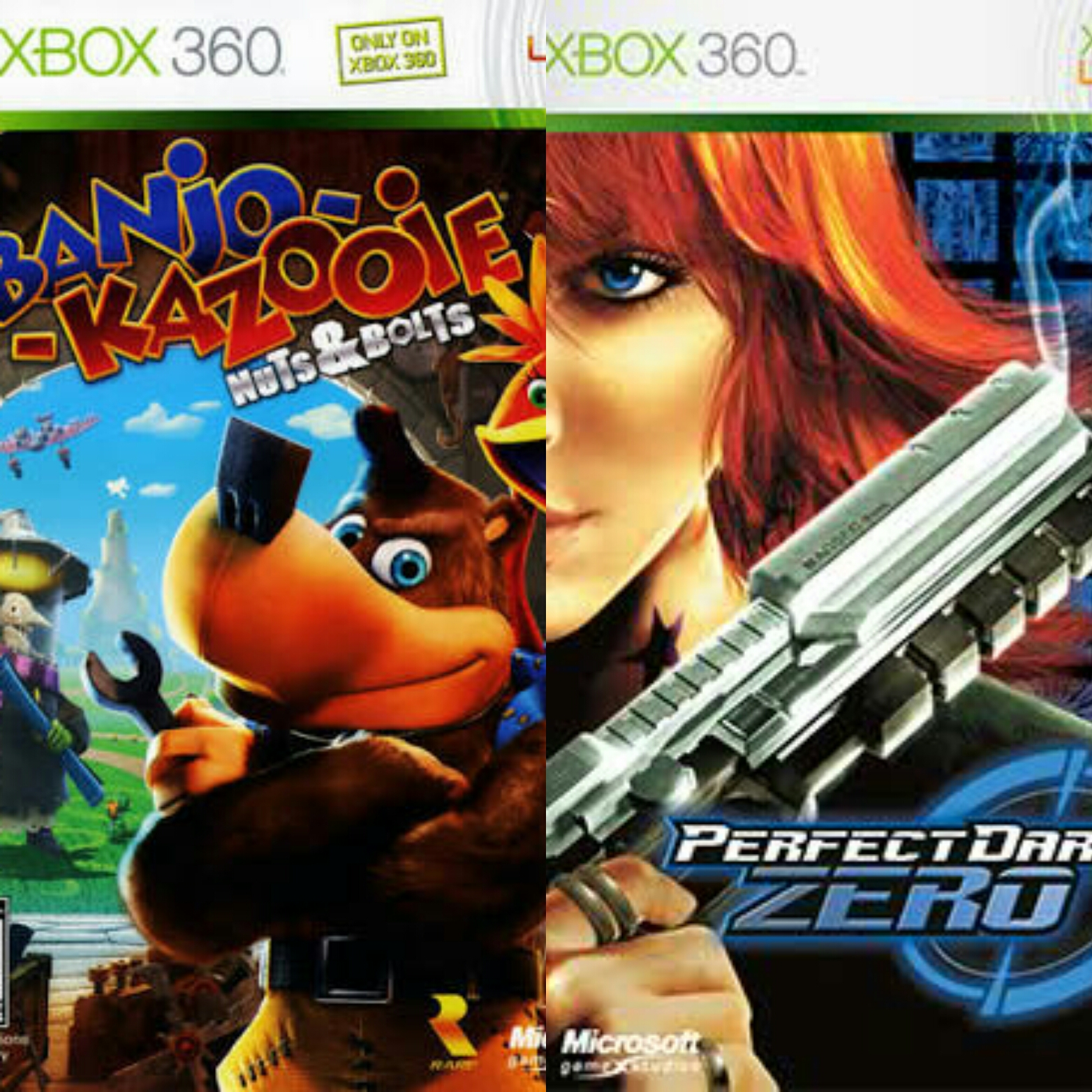 The Cream of the Crap - Perfect Dark Zero and Banjo-Kazooie: Nuts & Bolts (Xbox 360)