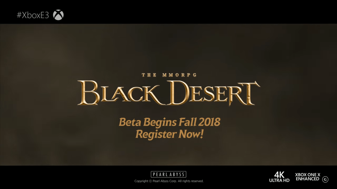 E3 2018 - Black Desert Beta Announcement