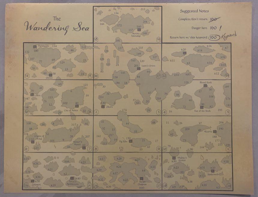 Sleeping Gods Map