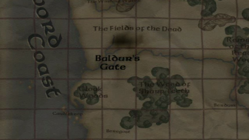 Baldur's Gate: Dark Alliance Map