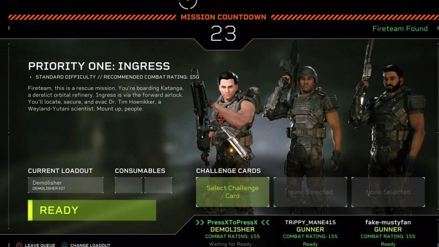 Alien Fireteam Elite Queue
