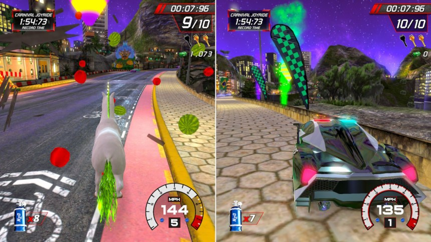 Cruis'n Blast Unicorn vs Police Car