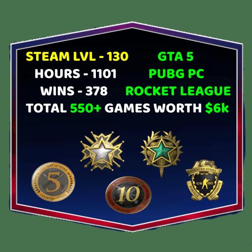 Steam Level 100+ Account