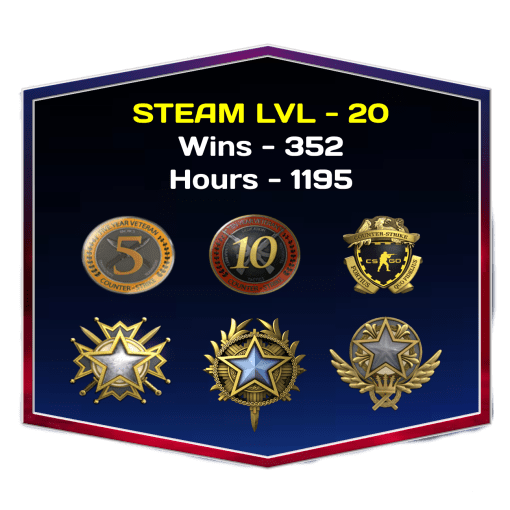 3 Medals CSGO Account With Veteran Coins