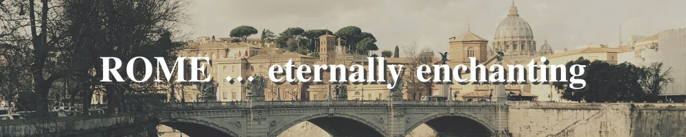 ROME eternally enchanting menu
