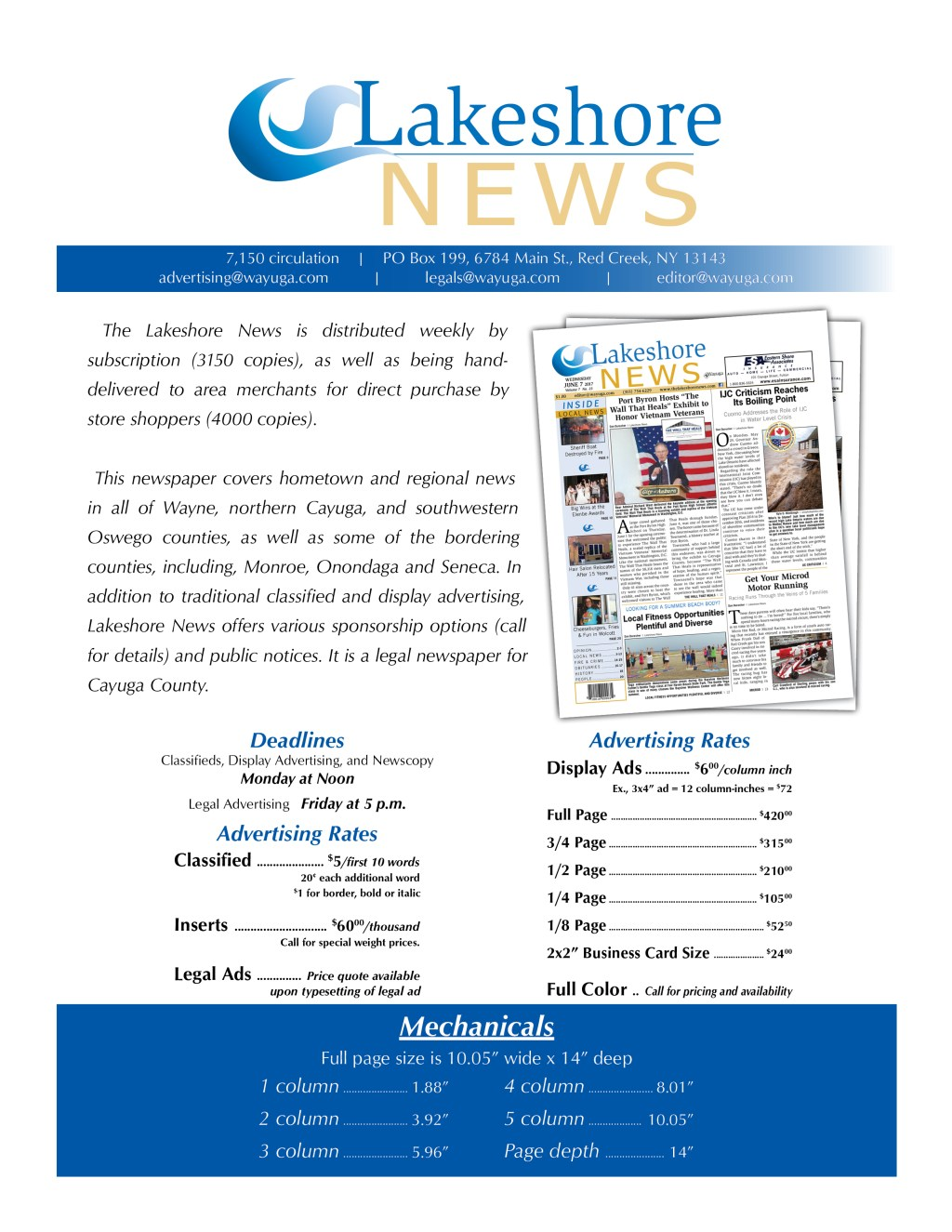 Lakeshore News Info Flyer