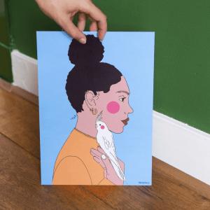 Birdy Girl Print Mood
