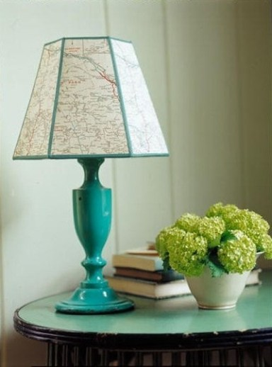 map-lampshade