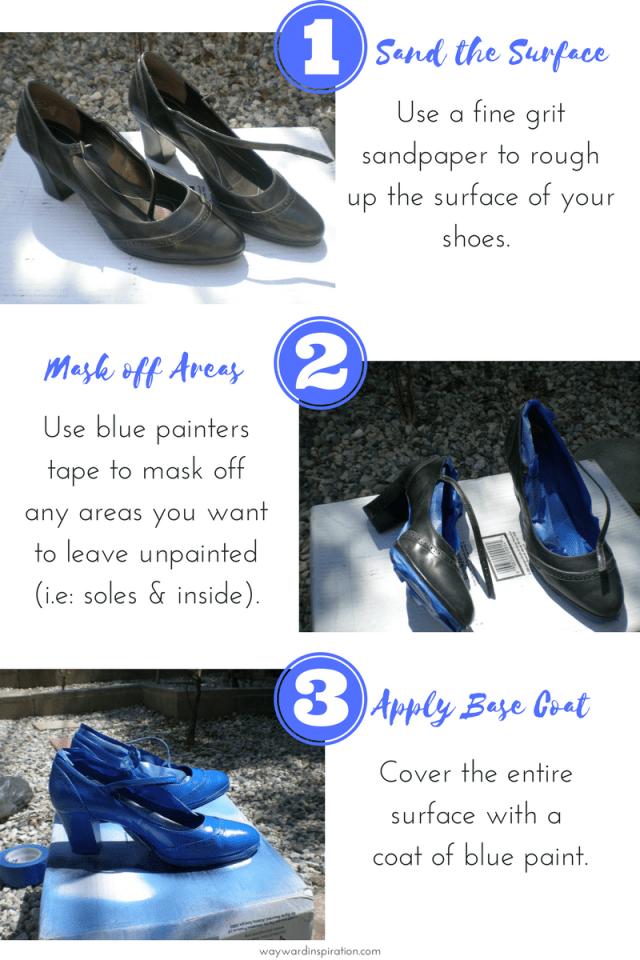 DIY Exploding T.A.R.D.I.S Heels- Steps 1-3 - Wayward Inspiration