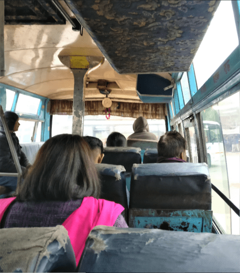 Our bus ride from Phuentsholing to Thimphu