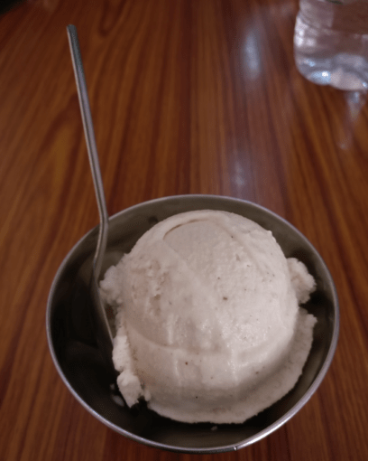 coconut ice cream at shree shakti cold drinks in gokarna in karnataka