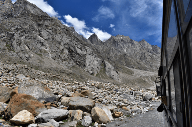 The barren landscape of Spiti Valley, due to lack of oxygen
