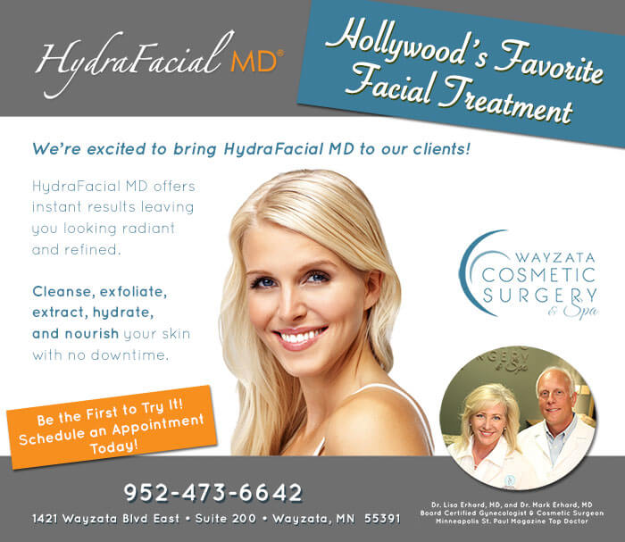 HydraFacial™ – Hollywood's Favorite Treatment Comes to Wayzata Cosmetic Surgery & Spa