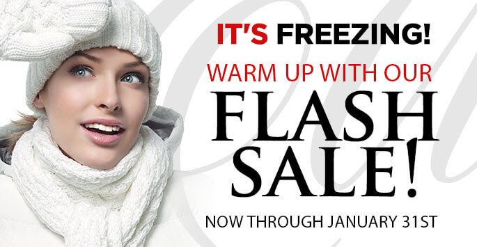 It's Freezing! Warm Up with our Flash Sale!