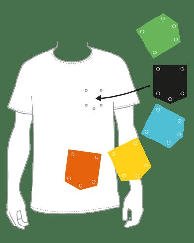maglietta tasca personalizzata