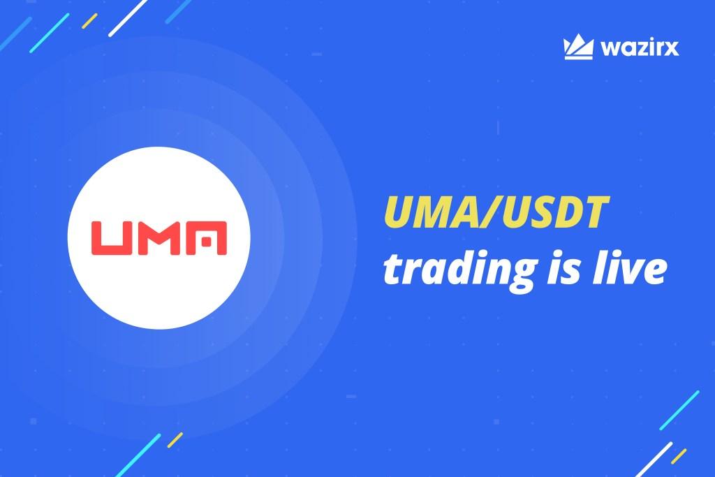 UMA/USDT trading on WazirX
