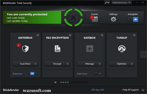 Bitdefender Total security Crack 2022 wazsoft.com