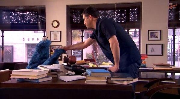 Cookie Monster Writes Jokes for Jimmy Kimmel