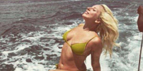 Lady Gaga Tans In A Bikini On A Boat In The Bahamas