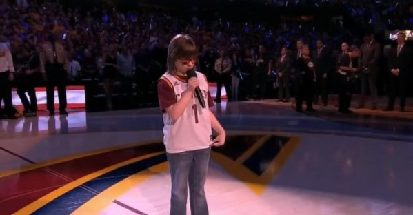 Marlana VanHoose Sings National Anthem | Warriors vs Cavaliers | Game 6 | June 16, 2015 | NBA Finals