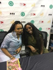 Estelle and Leisha at VP records
