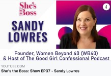 Sandy Pic on the She's the boss Podcast
