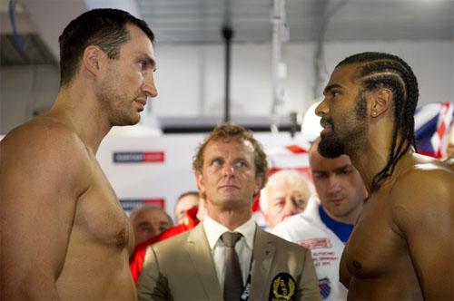 Haye-Klitschko make weight