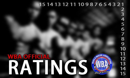 WBA Official Ratings as of May 2013