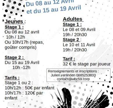Stage printemps 2019
